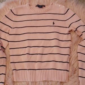 Pink striped sweater